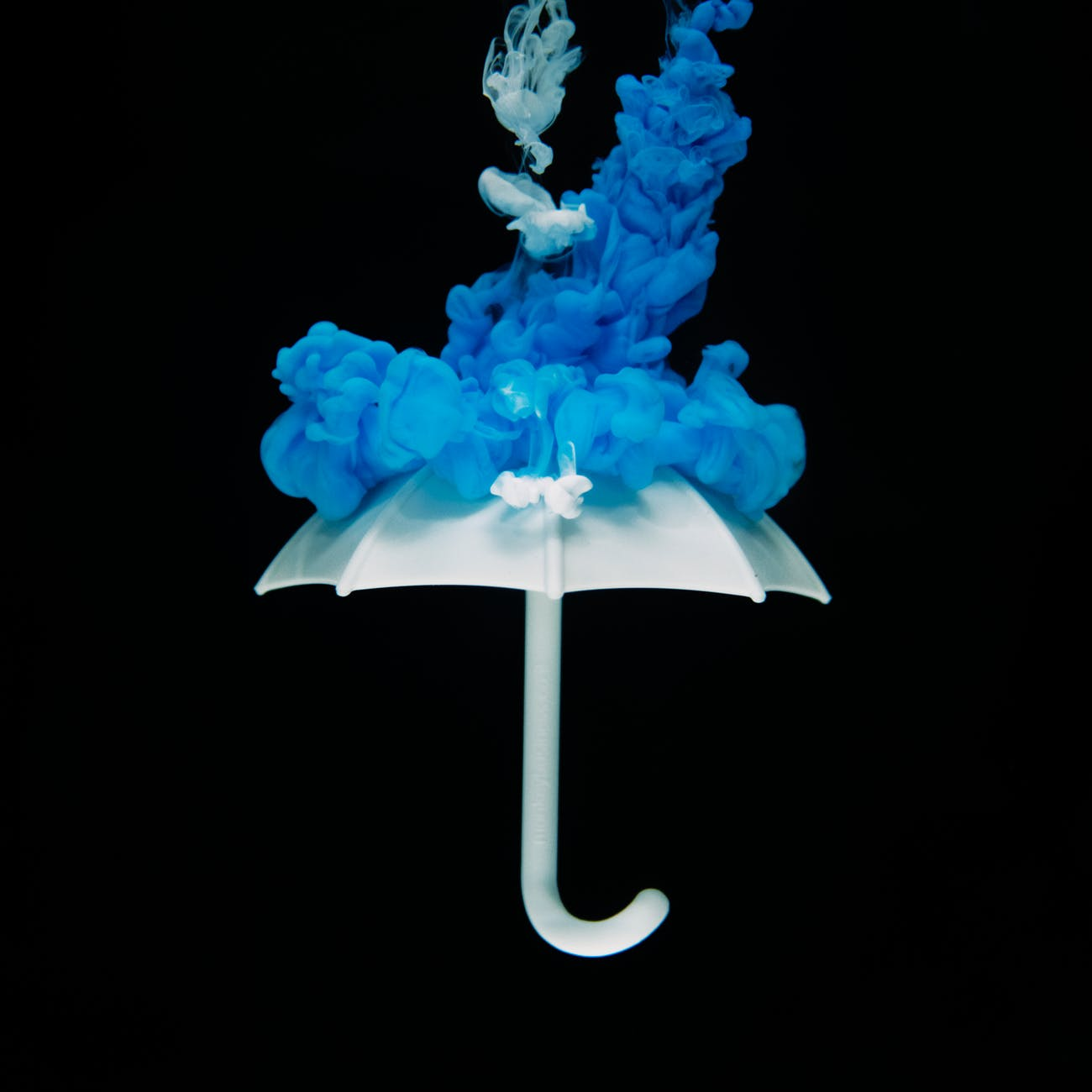 Umbrella woth smoke off top