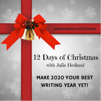 12 days of christmas poster with ribbon wrapping