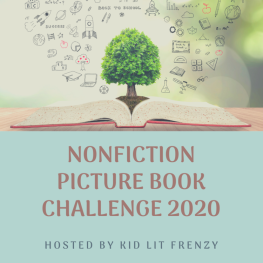 Image with tree and book of Nonfiction PIcture Book Challenge 2020