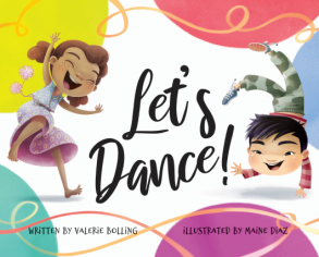 cover of Let's Dance book with two kids dancing