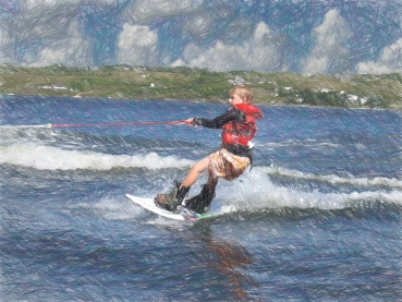 Wakeboarad boy no note